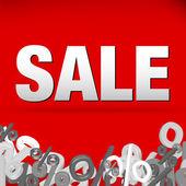 Decoración venta — Vector de stock
