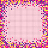 Abstract pixel mosaic frame — Stock Vector