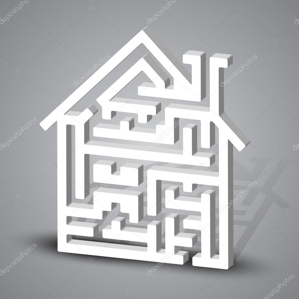 迷宫的房子 — 图库矢量图像08