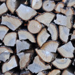 Stack of chopped wood — Stock Photo