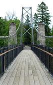Suspension Bridge with handrails — Stock Photo