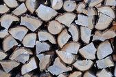 Pile de bois haché — Photo