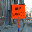 Road Sign: Rue Barrée — Stock Photo