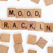Scrabble tiles spelling out 'Mood Tracking' - Stock Photo