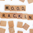 Scrabble tiles spelling out 'Mood Tracking' — Stock Photo