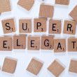Word: Superdelegate — Stock Photo