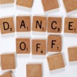 New phrase: dance off — Stock Photo