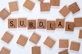 The word 'Subdial' spelled out — Foto de Stock
