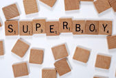 New phrase: Superboy — Stock Photo
