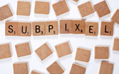 New phrase: subpixel — Stock Photo