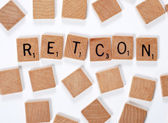 New word : retcon — Stock Photo