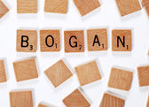 New word : Bogan — Stock Photo