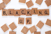 New phrase: Blacking up — Stock Photo