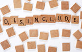 New phrase: disinclude — Stock Photo