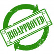 Bioapproved stamp — Stock Photo