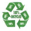 100% Recycled — Stock Photo