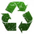 Green Recycle sign — Foto Stock