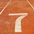 Running track number — Stock Photo