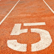 Running track numbers — Stock Photo #11362013