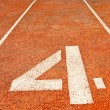Royalty-Free Stock Photo: Running track numbers