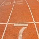 Running track numbers — Stock Photo