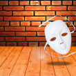 White drama masks — Stock Photo