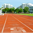Running track numbers — Stock Photo
