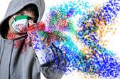 Graffiti young — Stock Photo