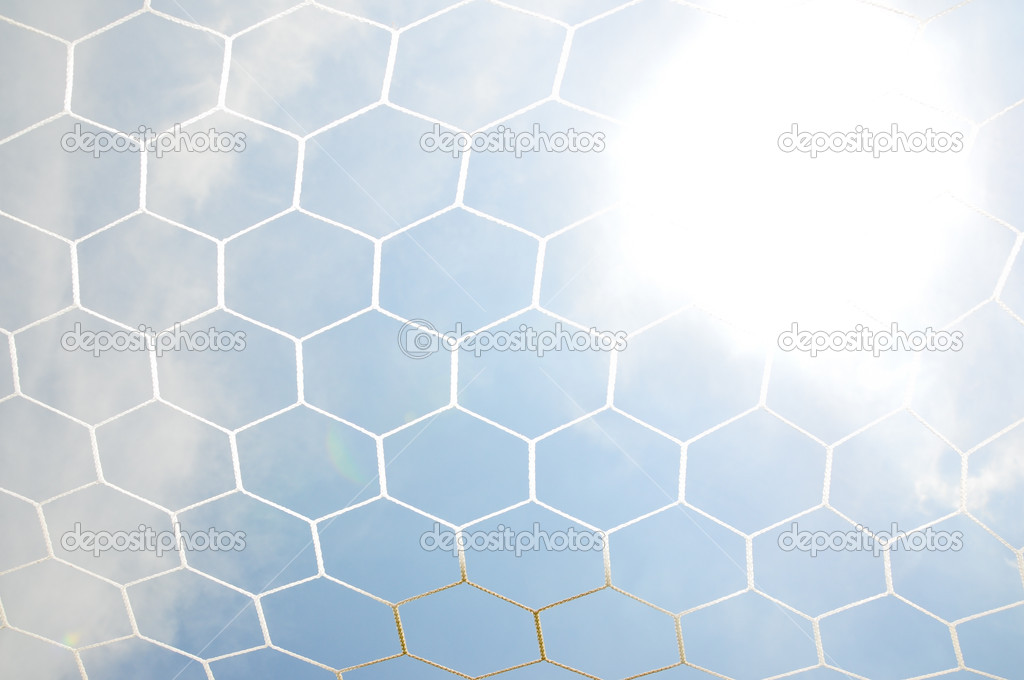 Close up football goal net  — Stock Photo #11414777