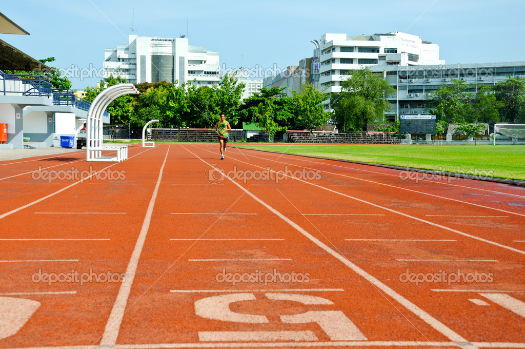 Running track numbers in Stadium. — Stock Photo #11416146