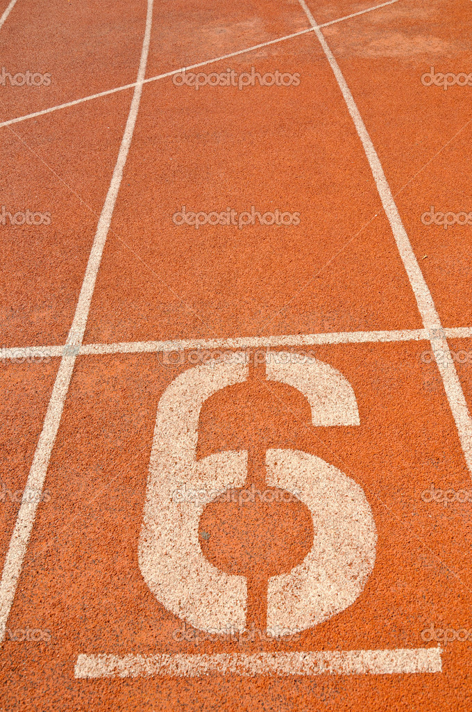 Running track numbers in Stadium. — Stock Photo #11416166