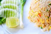 Macro Fried rice thai style — Stock Photo