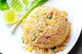 Macro Fried rice — Stock Photo