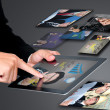 Stock Photo: Touch Pad screen concept