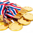 Golden Medals, award — Stock Photo