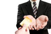 Business holding credit card — Stock Photo
