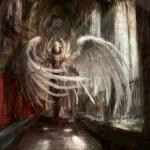 Cyborg angel girl — Stock Photo #11220255