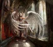 Cyborg melek kız — Stok fotoğraf
