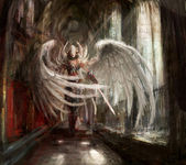 Cyborg engel mädchen — Stockfoto