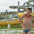 Boy in aquapark — Stock Photo