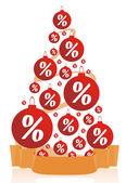Creative Christmas sale — Stock Vector
