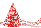Sale Christmas banner — Stock Vector