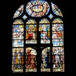 Colorful window-pane in the church — Stock Photo