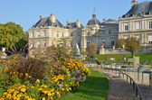 Historical french building in a public park — Stock Photo