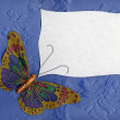 Stock Photo: Butterfly fabric on textiles 2