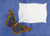 Butterfly fabric on textiles 2 — Stock Photo