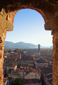 Panorama of Lucca-Italy — Stock Photo