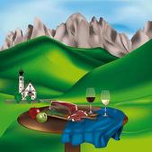 Dolomite landscape — Stock Vector