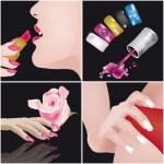 Nais Art-manicure — Stock Vector