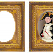 Stock Vector: Napoleon Bonaparte in frame